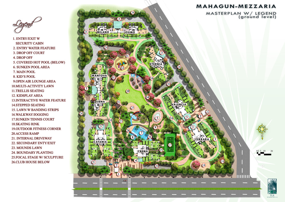 Mahagun Mezzaria Site Map